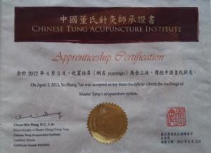 Diploma Yu Sheng Tze