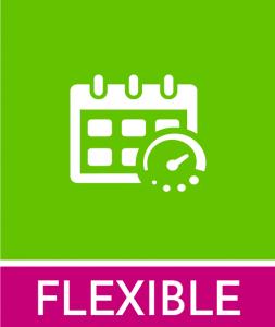 FLEXIBLE: Puedes iniciar en cualquier momento, y tienes un plazo máximo de 2 cursos para finalizarlo. Puedes organizar la asistencia a las clases de manera flexible en cualquiera de las convocatorias.
